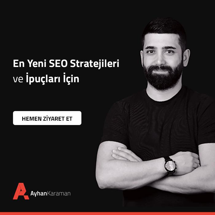 Ayhan Karaman SEO Bilgileri